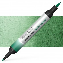 Winsor & Newton : Watercolour Marker : Hooker's Green Dark