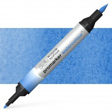 Winsor and Newton : Watercolour Marker : Mid Blue