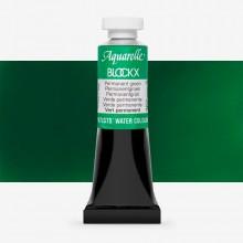 Blockx : Watercolour Paint : 15ml : Permanent Green