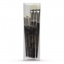 Rosemary & Co : Ivory Pochade Brush : Set of 7