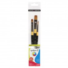 Daler Rowney : System 3 Acrylic Brushes : Wallet Sets