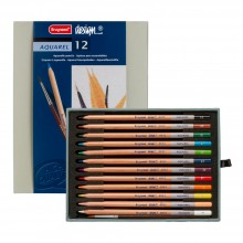 BRUYNZEEL : DESIGN : AQUAREL PENCIL : BOX OF 12 : ASSORTED COLOURS