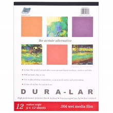 Grafix : Wet Media Dura-Lar : 0.004 in Thick : 12 Sheets