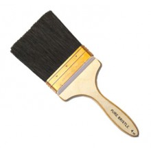 RTF Granville : Copper Bound Black Bristle Wall Brush : 6 inch