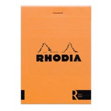 Rhodia : Le R Unlined Pad : Orange Cover : 85x120mm (8.5x12cm)