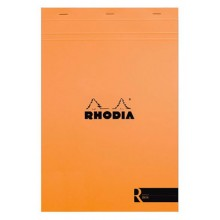 Rhodia : Le R Unlined Pad : Orange Cover : 210x297mm (A4 21x29.7cm)
