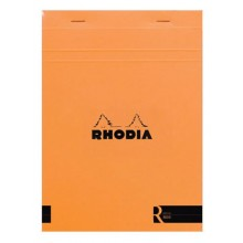 Rhodia : Le R Unlined Pad : Orange Cover : 148x210mm (A5 14.8x21cm)