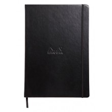 Rhodia : Webnotebook Unlined Ivory Pad : Black Cover : 210x297mm (A4 21x29.7cm)