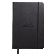 Rhodia : Webnotebook Unlined Ivory Pad : Black Cover : 148x210mm (A5 14.8x21cm)