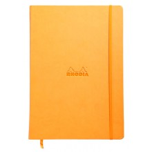 Rhodia : Webnotebook Unlined Ivory Pad : Orange Cover : 210x297mm (A4 21x29.7cm)