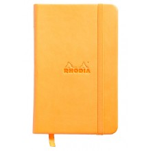 Rhodia : Webnotebook Unlined Pad : Orange Cover : 90x140mm (A6 9x14cm)