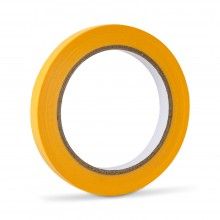 Handover : Yellow Low Tack Lining Tape: 1/2 12mm x 40 metres