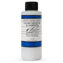 M. Graham : Artist's Acrylic Medium : 118ml : Gloss Medium and Varnish