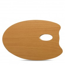 Mabef : OVAL Wooden Palette 20 x 30 cm (3.7mm thick)