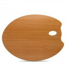 Mabef : Oval MDF Palette : 35x45cm : 3.7mm Thick