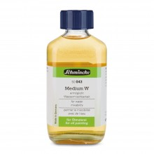 Schmincke : Mussini Oil Medium : W Makes Oils Water Mixable : 200ml