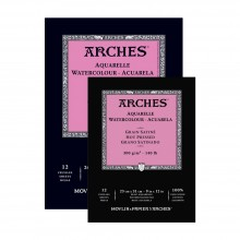 Arches : Aquarelle : Watercolour Paper Gummed Pads