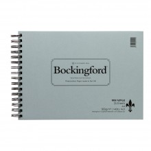Bockingford : Spiral Fat Pad : 300gsm : A4 : 25 Sheets : Not