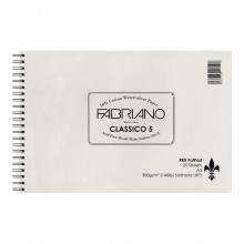 Fabriano : 5 : New 2016 Surface and New Sizing : Fat Pad : 25 Sheets : Wire Bound on Short Edge : A3