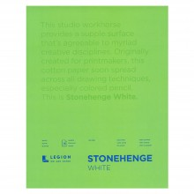 Stonehenge : Fine Art Paper Pad : 9x12in : 15 Sheets : White : Smooth / Vellum