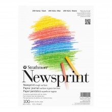 Strathmore : 200 Series : Newsprint Paper : Pad : 49gsm : 18x24in : 100 Sheets