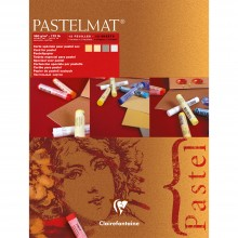 Clairefontaine : Red Label : Pastelmat Pad : 18x24cm : 12 Sheets 360gsm