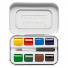 Sennelier : Watercolour Paint : Aqua Mini Set Of 8 Half Pans