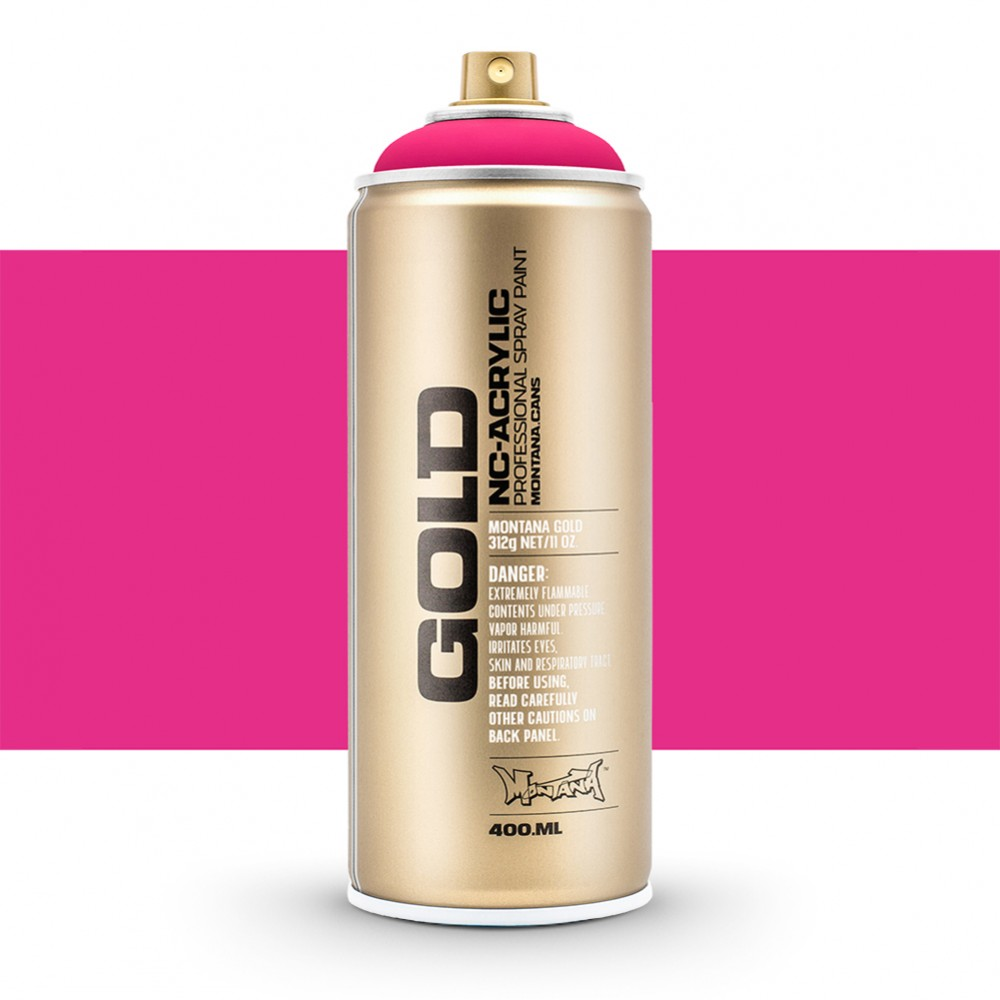Montana : Gold : 400ml : Fluorescent Gleaming Pink : Opaque : By Road Parcel Only