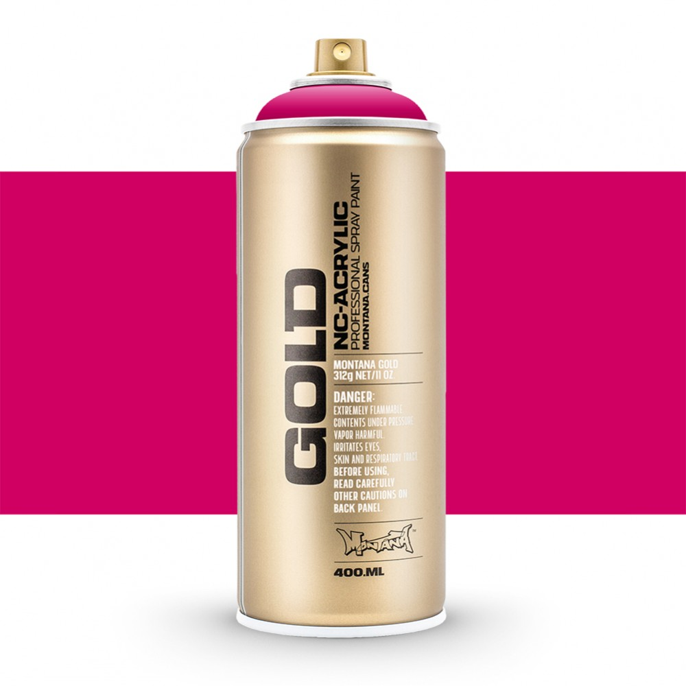 Montana : Gold : 400ml : Power 100% Magenta : Opaque : By Road Parcel Only