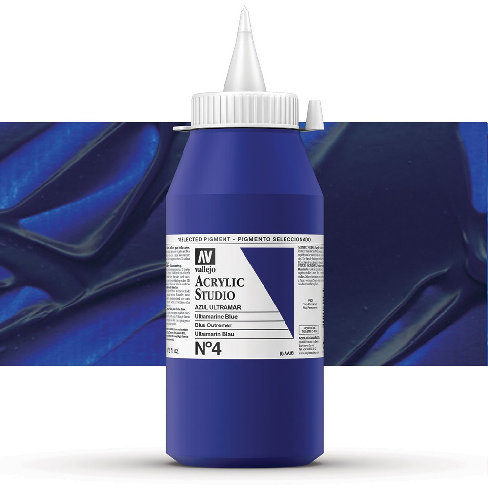 Vallejo : Studio Acrylic Paint : 1000ml : Ultramarine Blue