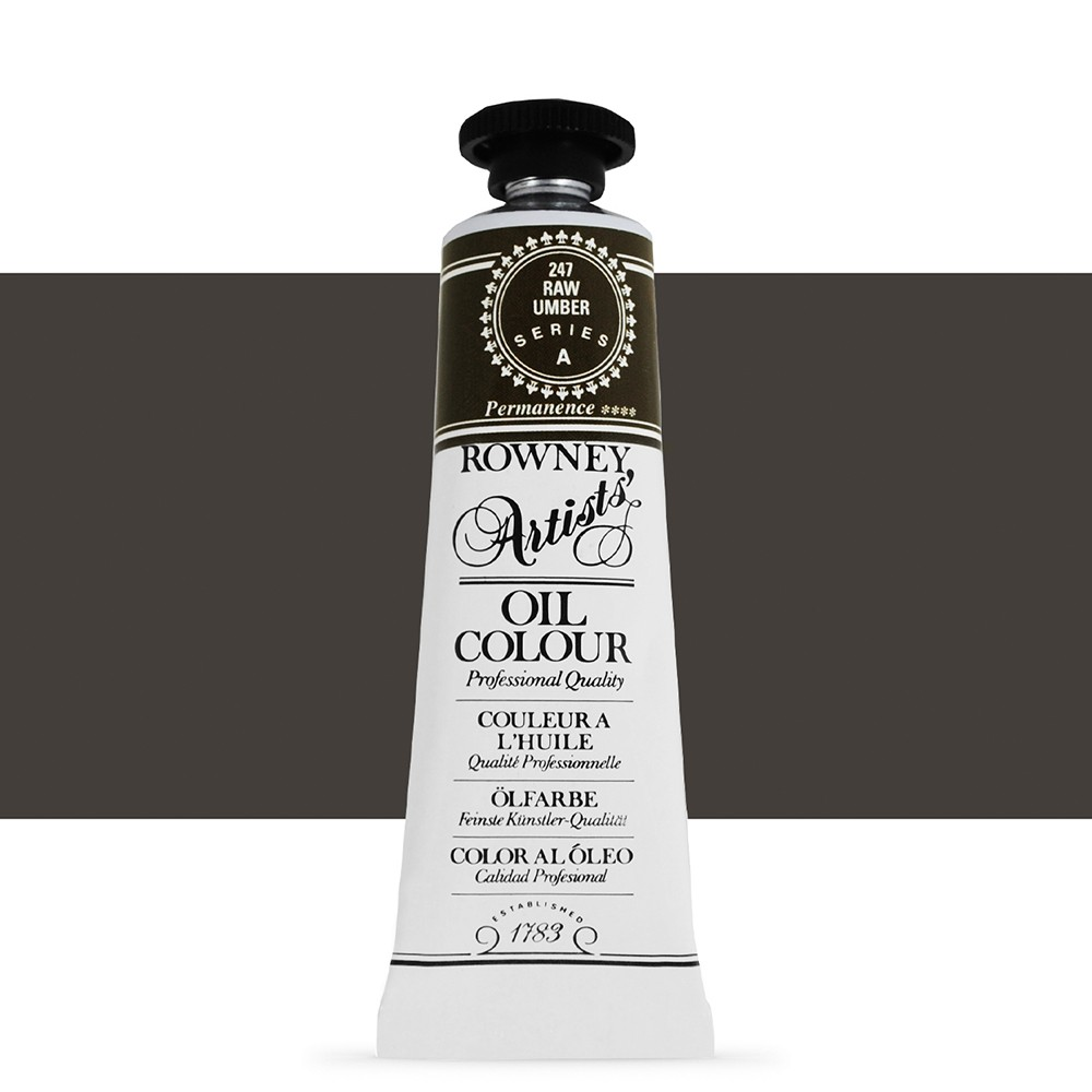 Daler Rowney : Artists' Oil Paint : 38ml : Raw Umber