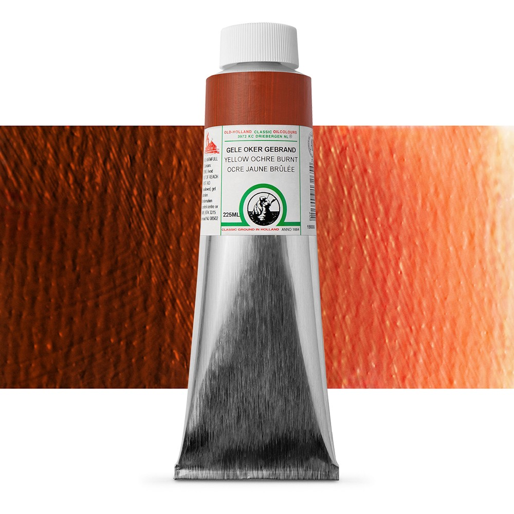 Old Holland : Classic Oil Paint : 225ml : Yellow Ochre Burnt
