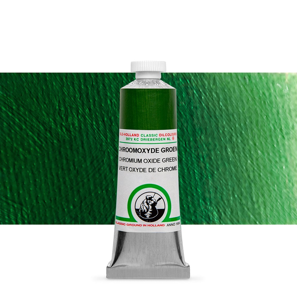 Old Holland : Classic Oil Paint : 40ml : Chromium Oxide Green