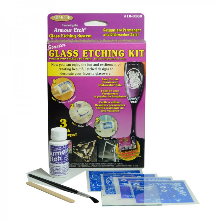Armour Etch : Glass Etching Cream : Starter Glass Etching Kit : By Road Parcel Only