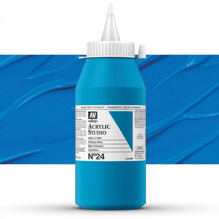 Vallejo : Studio Acrylic Paint : 1000ml : Primary Blue