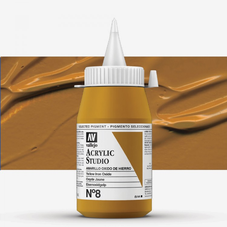 Vallejo : Studio Acrylic Paint : 500ml : Mars Yellow (Ochre)