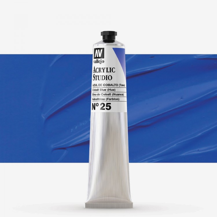 Vallejo : Studio Acrylic Paint : 58ml : Cobalt Blue (Hue)