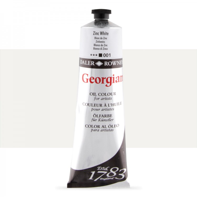 Daler Rowney : Georgian Oil Paint : 225ml : Zinc White