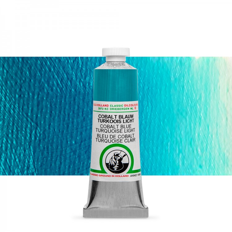 Old Holland : Classic Oil Paint : 40ml : Cobalt Blue Turquoise Light