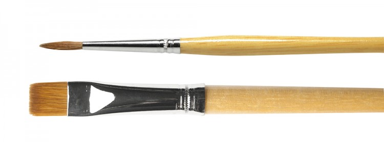 Handover : Pure Sable Oil Colour Brushes : Long Handled : 300 / 305