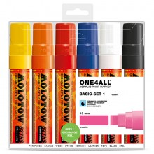 Molotow : One4All : 627HS : Acrylic Marker : Basic Set 1 : 6 Colours