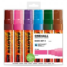 Molotow : One4All : 627HS : Acrylic Marker : Basic Set 2 : 6 Colours