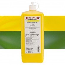 Schmincke : Aero Color Finest Acrylic Ink : 1000ml : Primary Yellow