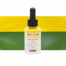 Schmincke : Aero Color Finest Acrylic Ink : 28ml : Primary Yellow