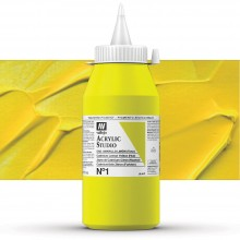 Vallejo : Studio Acrylic Paint : 1000ml : Cadmium Lemon Yellow (Hue)