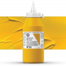 Vallejo : Studio Acrylic Paint : 1000ml : Cadmium Yellow Deep (Hue)