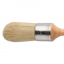 Escoda : Domed Lily Bristle Round Brush : No.10. : Stainless Steel Ferrule 42mm