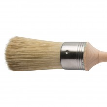 Escoda : Square Edge Bristle Round Brush : No.10. : Stainless Steel Ferrule 42mm