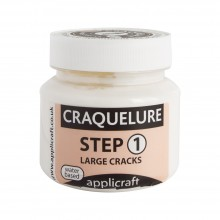 Applicraft : Craquelure Base : Large Crack Effect : Water Based : 100 ml
