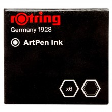 Rotring : ArtPen : Ink Cartridge : Black : Box of 6
